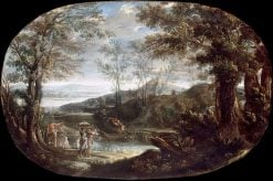 Landscape with River Scene | Annibale Carracci | Oil Painting