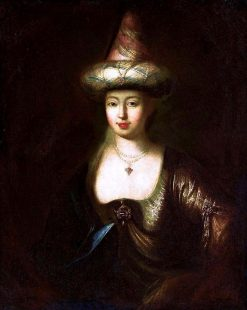 Portrait of a Woman in Oriental Costume | Antoine Pesne | Oil Painting