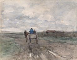 Farmer's Cart on a Country Road | Anton Mauve | Oil Painting
