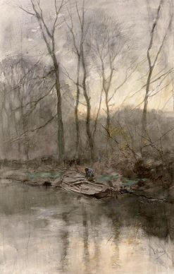 Forest Edge on the Water | Anton Mauve | Oil Painting