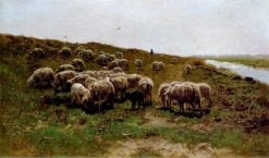 Sheep on a Dyke | Anton Mauve | Oil Painting