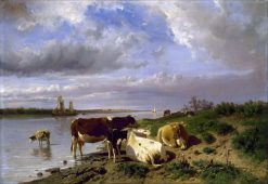 Landscape with Cattle | Anton Mauve | Oil Painting
