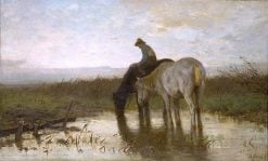 Drinking Horses | Anton Mauve | Oil Painting