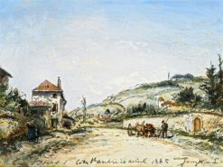 The Villa Beau-Séjour at the Côte-Saint-André | Johan Barthold Jongkind | Oil Painting