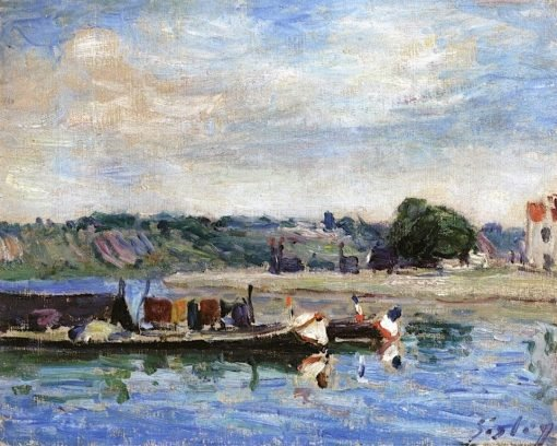 Banks of the Loing at Saint-Mammes | Alfred Sisley | Oil Painting