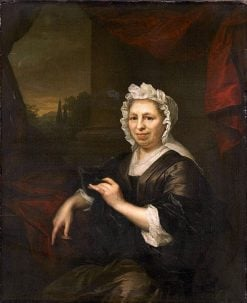 Brechje Hooft. Widow of Harmen van de Poll | Arnold Boonen | Oil Painting