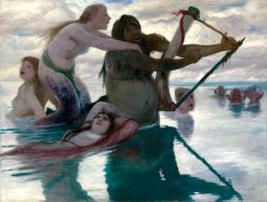 In the Sea   Arnold Böcklin   Oil Painting