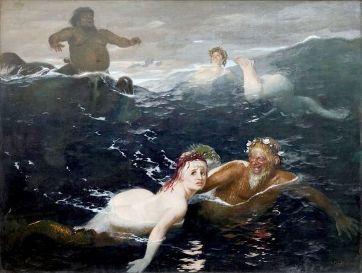 In the Game of Waves | Arnold Böcklin | Oil Painting