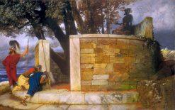 The Sanctuary of Hercules   Arnold Böcklin   Oil Painting