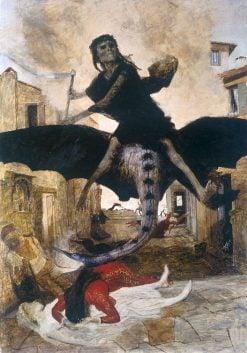 The Plague   Arnold Böcklin   Oil Painting
