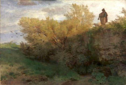 Bagpiper | Arnold Böcklin | Oil Painting