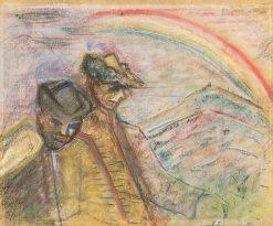 Dvaja chlapi v krajine   Arnold Peter Weisz-Kubín?an   Oil Painting