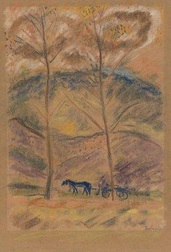 Krajina s furmanom | Arnold Peter Weisz-Kubín?an | Oil Painting