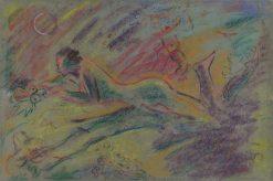 Ležiaci ženský akt v krajine | Arnold Peter Weisz-Kubín?an | Oil Painting