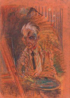 Autoportrét s paletou | Arnold Peter Weisz-Kubín?an | Oil Painting