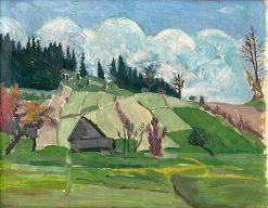 Cesta na Rovišne   Arnold Peter Weisz-Kubín?an   Oil Painting