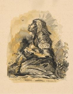 Cigánka a škovránok   Arnold Peter Weisz-Kubín?an   Oil Painting