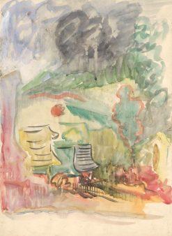Dedinský motív   Arnold Peter Weisz-Kubín?an   Oil Painting