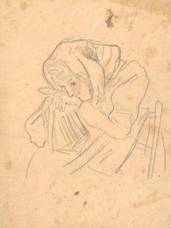 Diev?a na stoli?ke   Arnold Peter Weisz-Kubín?an   Oil Painting