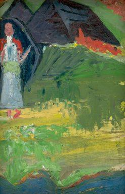 Diev?a pred kolibou   Arnold Peter Weisz-Kubín?an   Oil Painting
