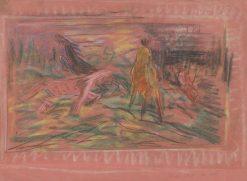 Kone na pastve | Arnold Peter Weisz-Kubín?an | Oil Painting