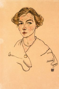 Portrait of a Woman (Lily Steiner) | Egon Schiele | Oil Painting