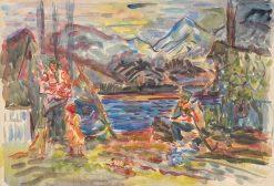 Slovenská rodina | Arnold Peter Weisz-Kubín?an | Oil Painting