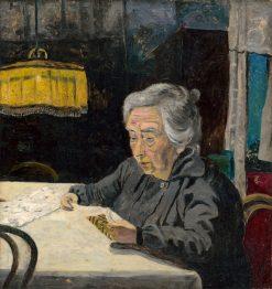 ?ítajúca starena | Arnold Peter Weisz-Kubín?an | Oil Painting