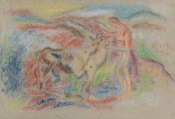 ena s kravou   Arnold Peter Weisz-Kubín?an   Oil Painting