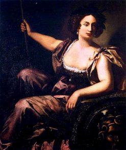 Minerva   Artemisia Gentileschi   Oil Painting