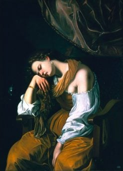 Mary Magdalene as Melancholy | Artemisia Gentileschi | Oil Painting