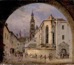 Clarion Church in Bratislava   Rudolf von Alt   Oil Painting