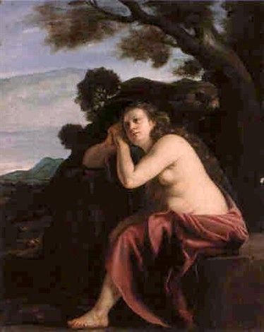 The Penitent Magdalene in a Landscape
