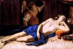Cleopatra discovered by her servants | Artemisia Gentileschi | Oil Painting