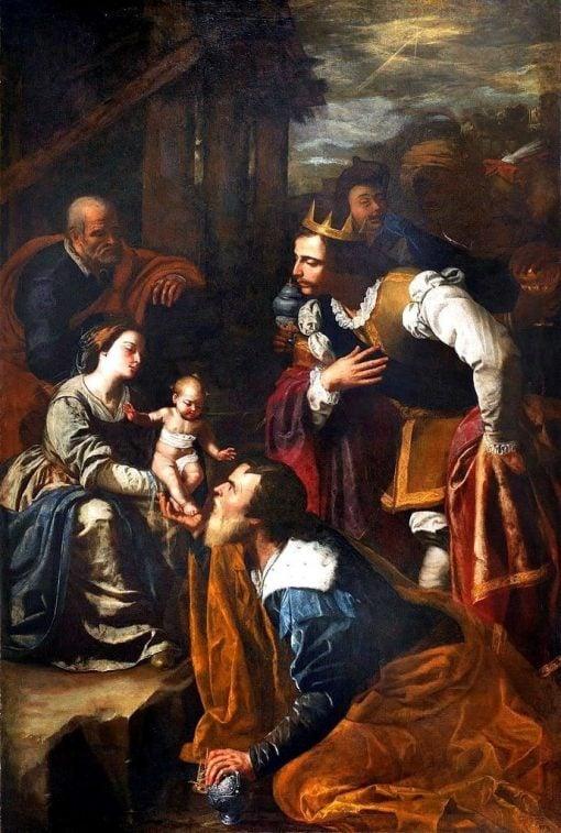 Adoration of the Magi   Artemisia Gentileschi   Oil Painting