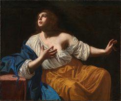 Mary Magdalene Penitent | Artemisia Gentileschi | Oil Painting