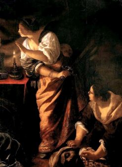 Judith and Her Maid with the Head of Holofernes | Artemisia Gentileschi | Oil Painting