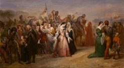 Lenore - the Return of the Army   Ary Scheffer   Oil Painting