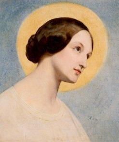 Portrait of El?bieta (Eliza) from Branicki Krasi?ska | Ary Scheffer | Oil Painting