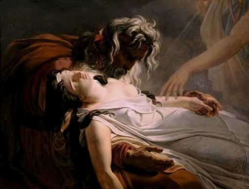 The Death of Malvina | Ary Scheffer | Oil Painting