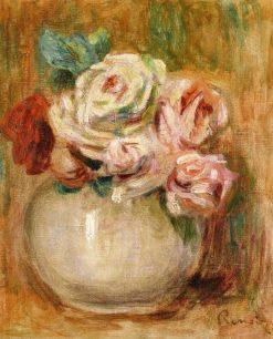 Roses in a Vase (fragment) | Pierre Auguste Renoir | Oil Painting