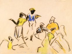 Dance Band | Ernst Ludwig Kirchner | Oil Painting