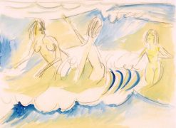 Three Bathes in the Water | Ernst Ludwig Kirchner | Oil Painting