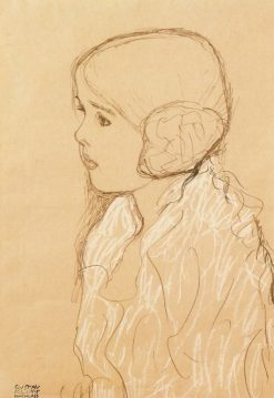 Bust of a Girl in Profile | Gustav Klimt | Oil Painting
