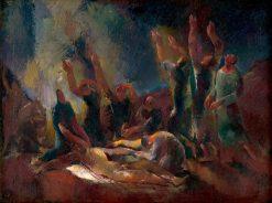 Snímanie | Vilmos Aba-Novák | Oil Painting
