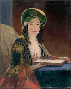 Young Woman in Oriental Costume | Friedrich von Amerling | Oil Painting