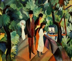 Walk on the Bridge | August Macke | Oil Painting
