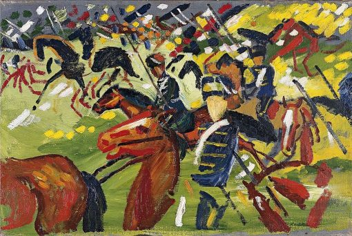 Hussars on a Sortie | August Macke | Oil Painting