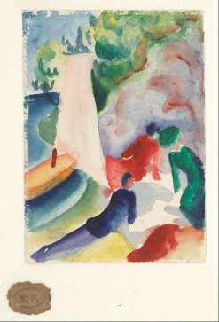 Picnic on the Beach | August Macke | Oil Painting