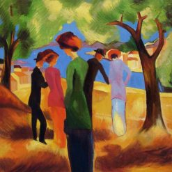 Woman in Green Jacket | August Macke | Oil Painting